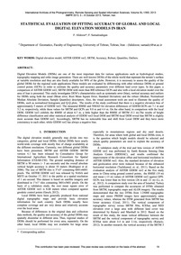 Statistical Evaluation of Fitting Accura... by Alidoost, F.