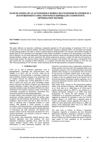 Path Planning of an Autonomous Mobile Mu... by Heidari, A. A.