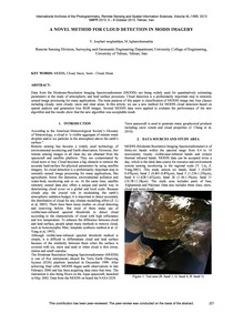 A Novel Method for Cloud Detection in Mo... by Jouybari Moghaddam, Y.