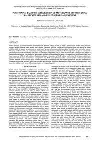 Positioning Based on Integration of Muti... by Omidalizarandi, M.