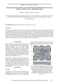 Insar and Finite Element Analysis of Gro... by Shamshiri, R.