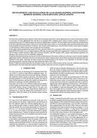 Development and Evaluation of a Uav Base... by Eling, C.