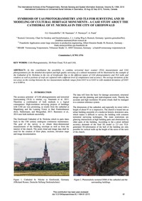 Symbiosis of Uas Photogrammetry and Tls ... by Grenzdörffer, G. J.