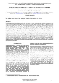 Integrated 3S Technology Used in Urban G... by Zhao, H.