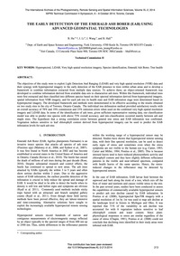 The Early Detection of the Emerald Ash B... by Hu, B.