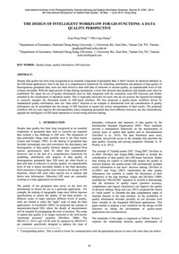 The Design of Intelligent Workflow for G... by Hong, J.-h.