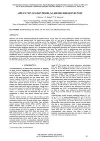 Application of Gis in Modeling Zilbercha... by Malekani, L.