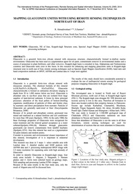 Mapping Glauconite Unites with Using Rem... by Ahmadirouhani, R.