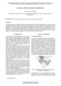 Spatial Aspects of Census Districting : ... by Dezyani, S.