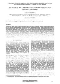 Esa Exomars: Pre-launch Pancam Geometric... by Li, D.