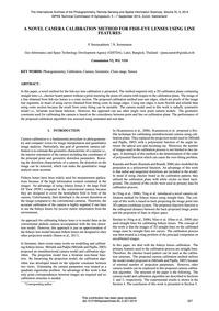 A Novel Camera Calibration Method for Fi... by Srestasathiern, P.