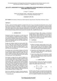 Quality Assessment of Self-calibration w... by Franjcic, Z.
