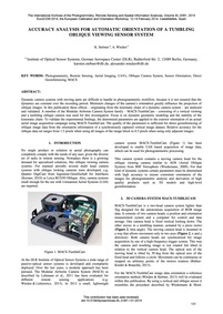 Accuracy Analysis for Automatic Orientat... by Stebner, K.