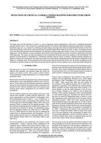 Detection of Critical Camera Configurati... by Michelini, M.