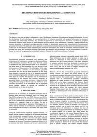 Trusting Crowdsourced Geospatial Semanti... by Goodhue, P.
