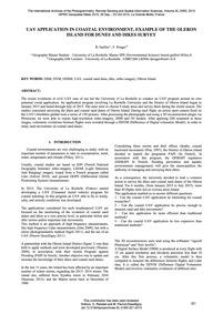 Uav Application in Coastal Environment, ... by Guillot, B.