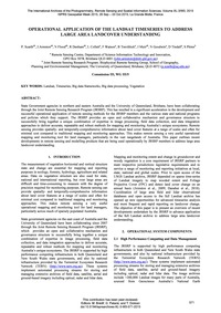 Operational Application of the Landsat T... by Scarth, P.