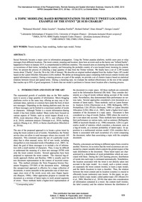 A Topic Modeling Based Representation to... by Morchid, M.