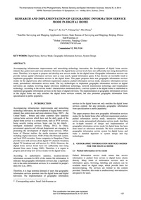 Research and Implementation of Geographi... by Lei, B.