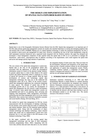 The Design and Implementation of Spatial... by Liu, D.