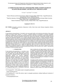 A Complete Solution of Cartographic Disp... by Liu, Y.