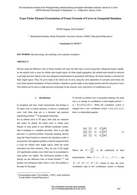 Exact Finite Element Formulation of Fren... by Wang, J.