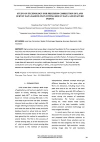 Study on Technology for Precision Correc... by Zeng, G.