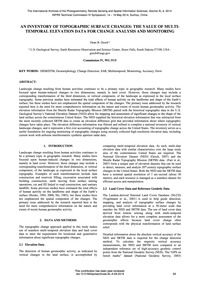 An Inventory of Topographic Surface Chan... by Gesch, D. B.