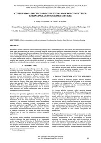 Considering Affective Responses Towards ... by Huang, H.