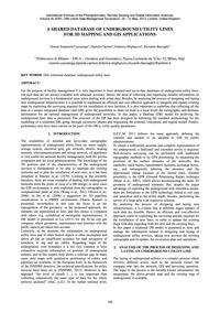 A Shared Database of Underground Utility... by Cazzaniga, N. E.