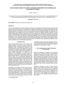 Sustainable Urban Planning and Risk Asse... by Tarhan, C.