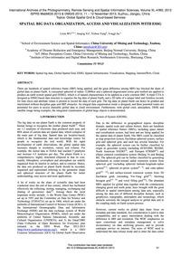 Spatial Big Data Organization, Access an... by Wu, L. X.