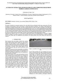 Automatic Extraction of Road Surface and... by Miraliakbari, A.