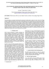 An Automatic 3D Reconstruction Method Ba... by Xiong, J.