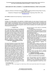 Research on the Layering A* Algorithm fo... by Tan, X.