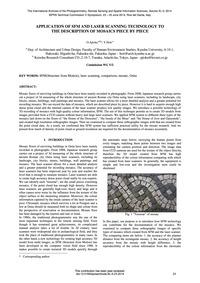 Application of Sfm and Laser Scanning Te... by Ajioka, O.