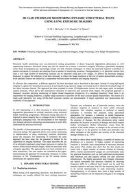 3D Case Studies of Monitoring Dynamic St... by McCarthy, D. M. J.