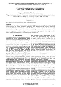 Evaluation of Feature-based Methods for ... by Apollonio, F.I.