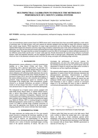 Multispectral Calibration to Enhance the... by Robson, S.