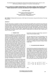 Evaluations of Three-dimensional Buildin... by Tsai, F.