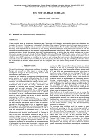 Bim for Cultural Heritage : Volume Xl-5/... by Del Giudice, M.
