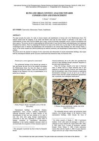 Ruins and Urban Context: Analysis Toward... by Romeo, E.