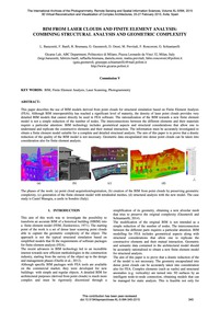 Bim from Laser Clouds and Finite Element... by Barazzetti, L.