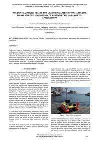 Microvega (Micro Vessel for Geodetics Ap... by Giordano, F.