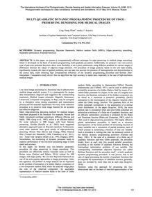 Multi-quadratic Dynamic Programming Proc... by Pham, C. T.
