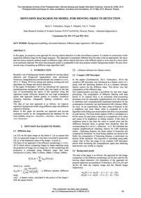 Diffusion Background Model for Moving Ob... by Vishnyakov, B. V.