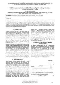 Visibility Analysis of the Oriental Pear... by Liu, S.