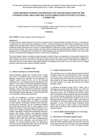 Using Remote Sensing Technology on the D... by Wang, C. H.
