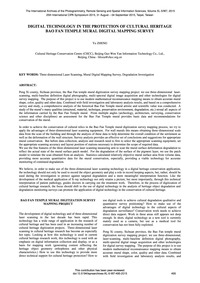 Digital Technology in the Protection of ... by Zheng, Y.