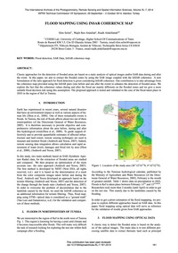 Flood Mapping Using Insar Coherence Map ... by Selmi, S.